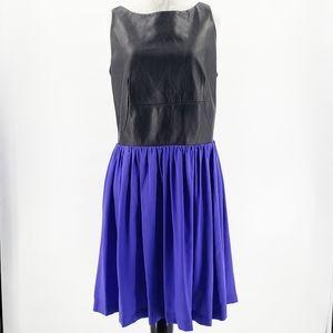 Amanda Uprichard Lambs Leather & Silk Dress